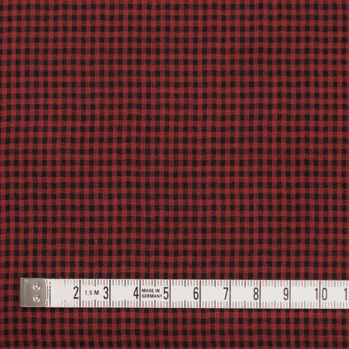 コットン×チェック(レッド&ブラック)×Wガーゼ_全3色 イメージ4