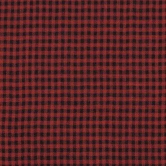コットン×チェック(レッド&ブラック)×Wガーゼ_全3色