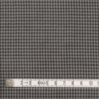 コットン×チェック(グレー&ダークブラウン)×Wガーゼ_全3色 サムネイル4
