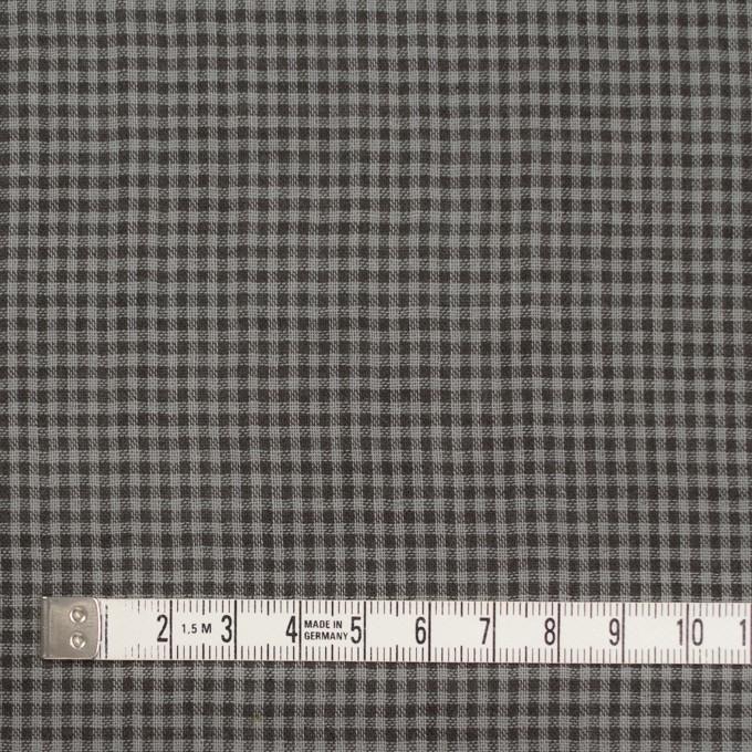 コットン×チェック(グレー&ダークブラウン)×Wガーゼ_全3色 イメージ4