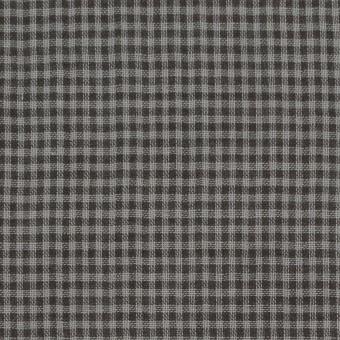コットン×チェック(グレー&ダークブラウン)×Wガーゼ_全3色