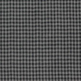コットン×チェック(グレー&ブラック)×Wガーゼ_全3色