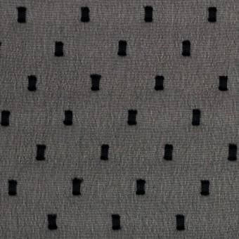 ポリエステル×スクエア(ブラック)×ジョーゼットジャガード