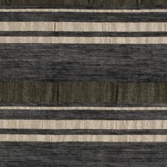 コットン&ナイロン×ボーダー(ブラック&アンティークゴールド)×ボイルジャガード