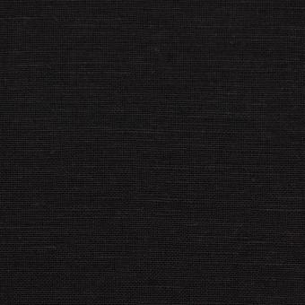 コットン&リネン混×無地(ブラック)×薄キャンバス