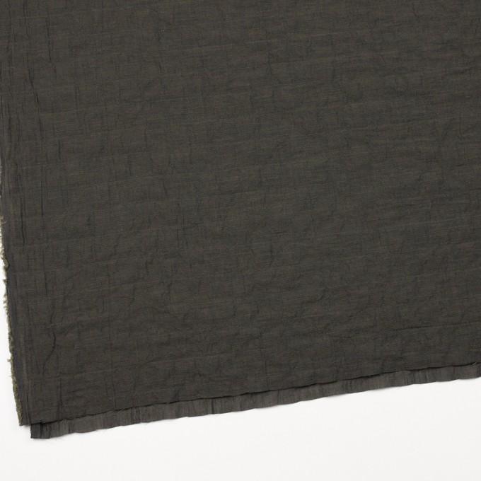 コットン&テンセル混×無地(オリーブグリーン)×シャンブレーボイル イメージ2