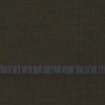 レーヨン&ポリエステル×ボーダー(オリーブグリーン)×かわり織ジャガード_全2色