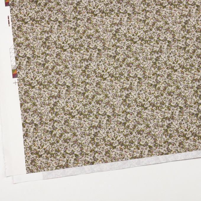 コットン&ポリウレタン×フラワー(グリーンティー)×サテンストレッチ_全2色 イメージ2