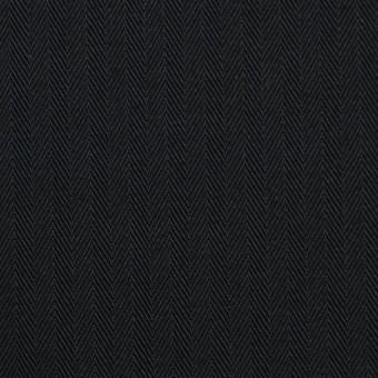 コットン×無地(ブラック)×ヘリンボーン