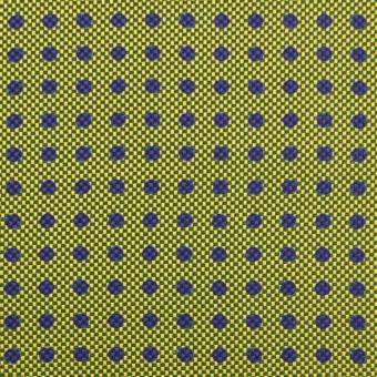 コットン&シルク×ドット(イエローグリーン)×斜子織