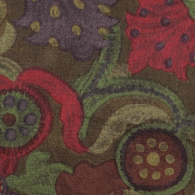 コットン&シルク×幾何学模様(カーマイン)×サテン_全2色 イメージ1