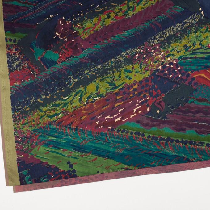 コットン&シルク×幾何学模様(レッド&ネイビー)×サテン イメージ2