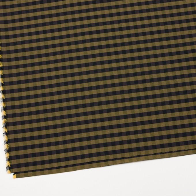 コットン&ポリエステル×チェック(イエローゴールド)×形状記憶タフタ_全4色 イメージ2