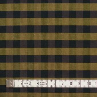 コットン&ポリエステル×チェック(イエローゴールド)×形状記憶タフタ_全4色 サムネイル4
