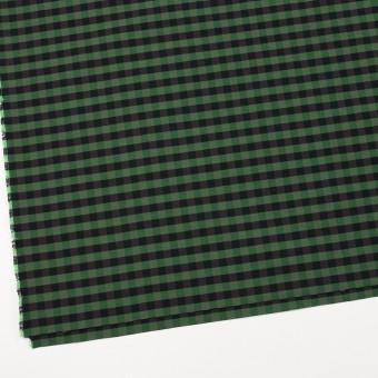 コットン&ポリエステル×チェック(メドウグリーン)×形状記憶タフタ_全4色 サムネイル2