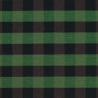 コットン&ポリエステル×チェック(メドウグリーン)×形状記憶タフタ_全4色 サムネイル1