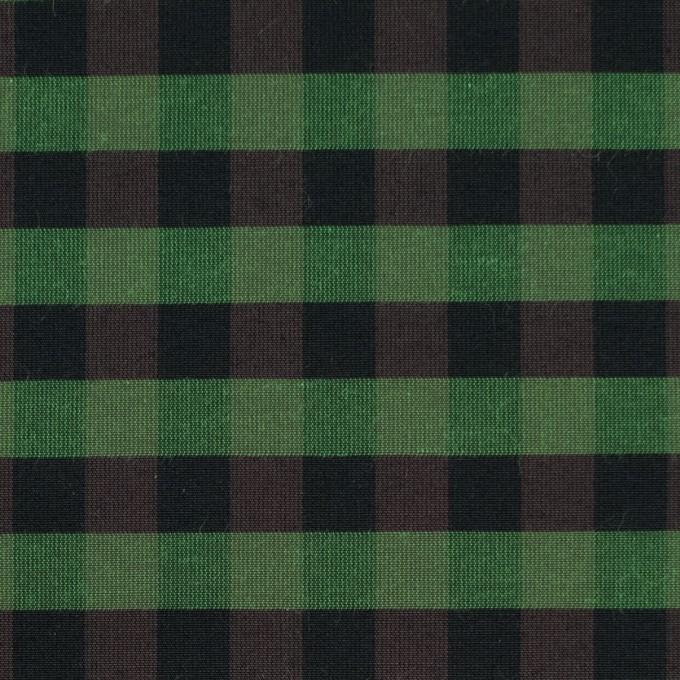 コットン&ポリエステル×チェック(メドウグリーン)×形状記憶タフタ_全4色 イメージ1