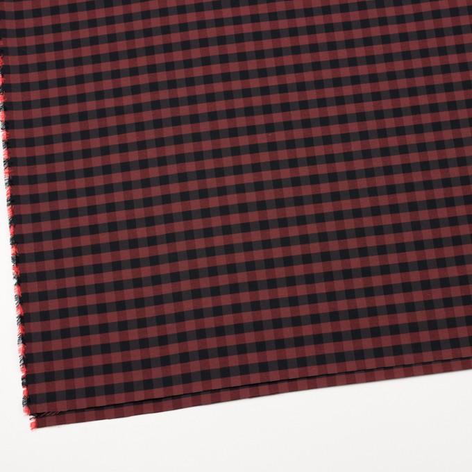 コットン&ポリエステル×チェック(カーマイン)×形状記憶タフタ_全4色 イメージ2