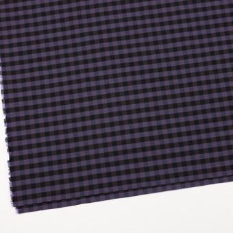 コットン&ポリエステル×チェック(バイオレット)×形状記憶タフタ_全4色 サムネイル2