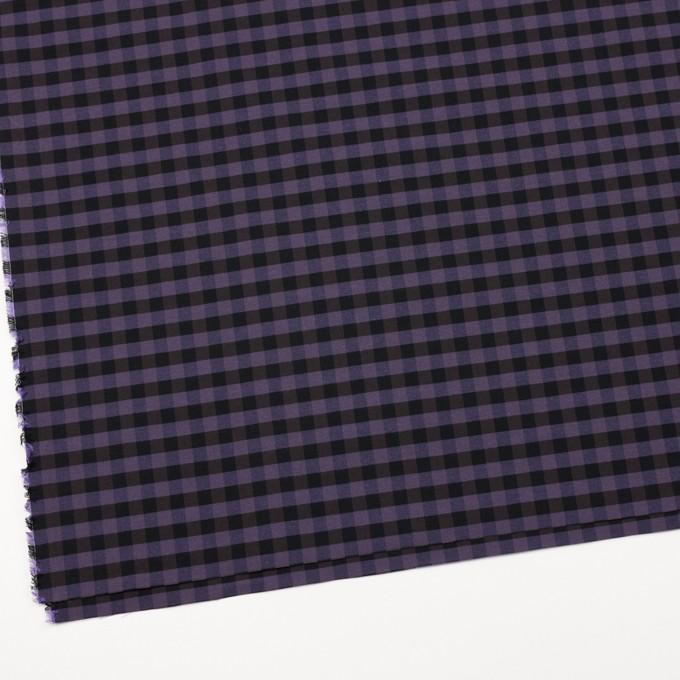コットン&ポリエステル×チェック(バイオレット)×形状記憶タフタ_全4色 イメージ2