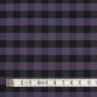 コットン&ポリエステル×チェック(バイオレット)×形状記憶タフタ_全4色 サムネイル4