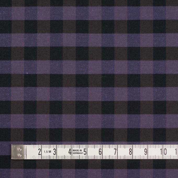 コットン&ポリエステル×チェック(バイオレット)×形状記憶タフタ_全4色 イメージ4