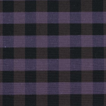 コットン&ポリエステル×チェック(バイオレット)×形状記憶タフタ_全4色