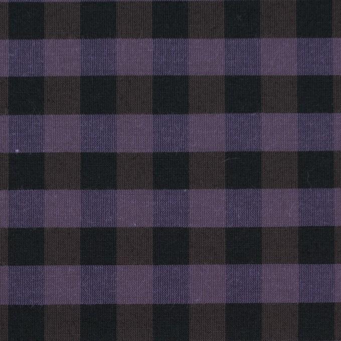 コットン&ポリエステル×チェック(バイオレット)×形状記憶タフタ_全4色 イメージ1
