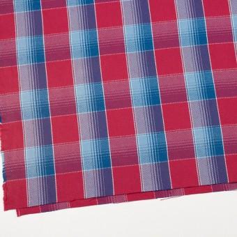 コットン×チェック(レッド&サックス、ネイビーブルー)×ビエラ_全3色 サムネイル2