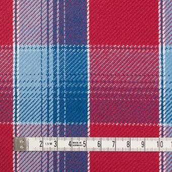 コットン×チェック(レッド&サックス、ネイビーブルー)×ビエラ_全3色 サムネイル4