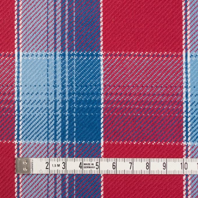 コットン×チェック(レッド&サックス、ネイビーブルー)×ビエラ_全3色 イメージ4