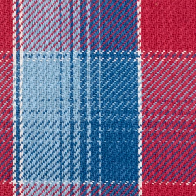 コットン×チェック(レッド&サックス、ネイビーブルー)×ビエラ_全3色 イメージ1