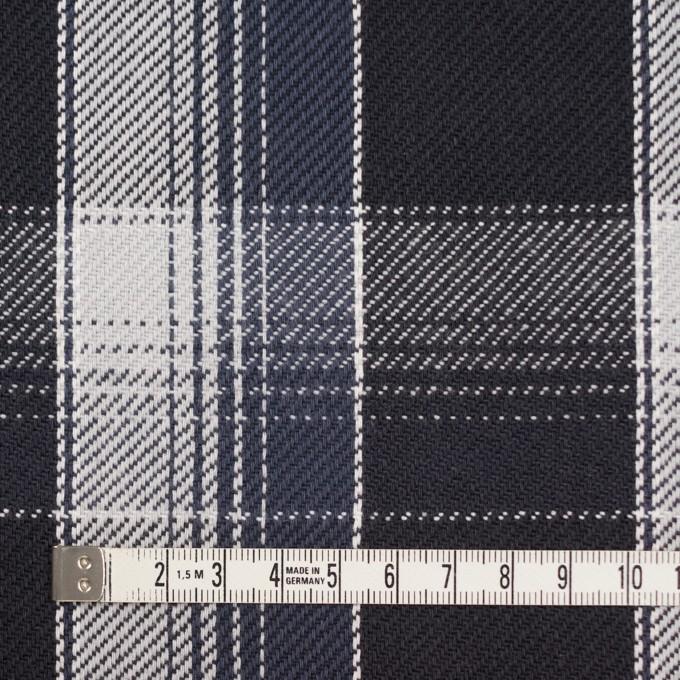 コットン×チェック(ブラック&ライトグレー、アイアンネイビー)×ビエラ_全3色 イメージ4