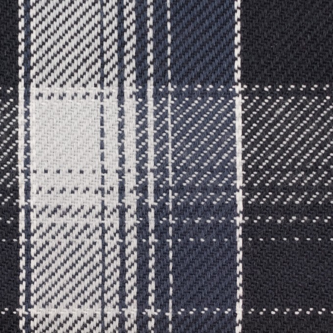 コットン×チェック(ブラック&ライトグレー、アイアンネイビー)×ビエラ_全3色 イメージ1