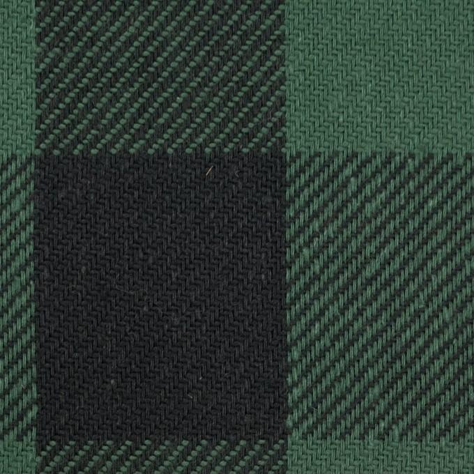 コットン×チェック(ホーリーグリーン&ブラック)×ビエラ_全3色 イメージ1