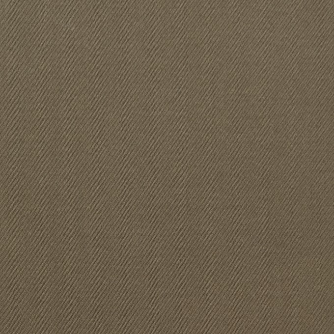 コットン&ポリウレタン×無地(カーキ)×サテンストレッチ イメージ1
