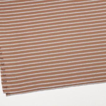 コットン&モダール×ボーダー(テラコッタ&グレー)×天竺ニット_全3色 サムネイル2