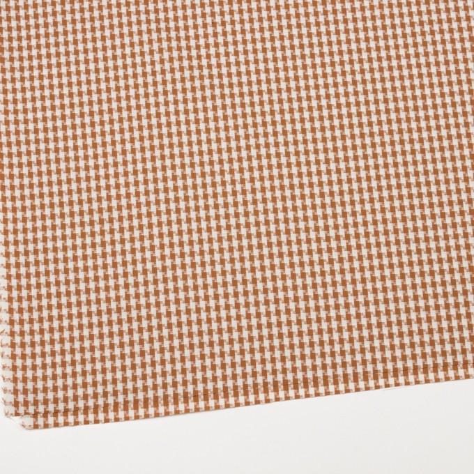 コットン&ポリエステル×スクエア(マロン)×ドビー織 イメージ2