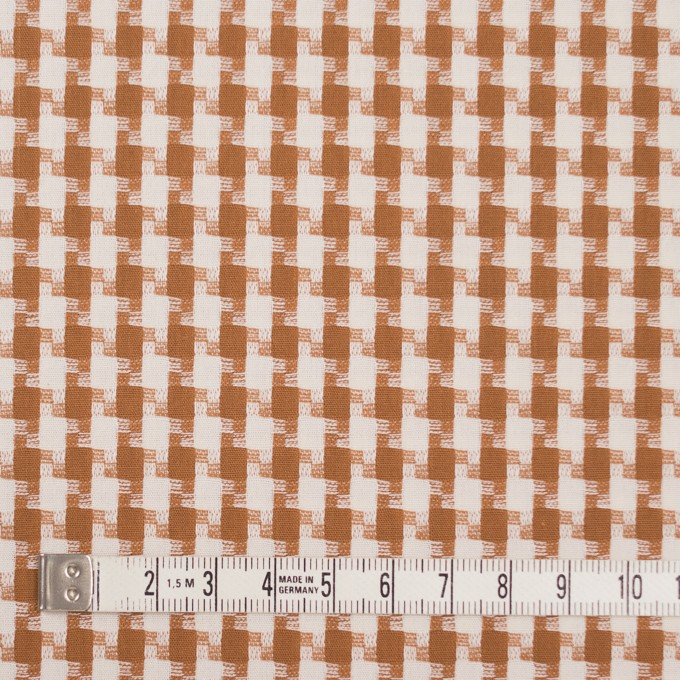コットン&ポリエステル×スクエア(マロン)×ドビー織 イメージ4