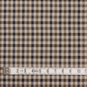 コットン&ポリウレタン×チェック(モカブラウン&ブラック)×ビエラストレッチ_全2色 サムネイル4