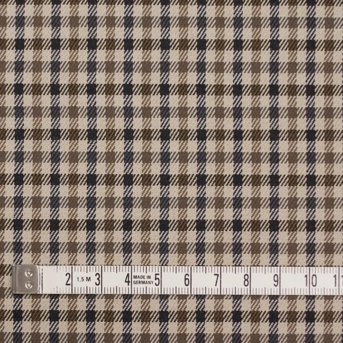 コットン&ポリウレタン×チェック(モカブラウン&ブラック)×ビエラストレッチ_全2色 イメージ4