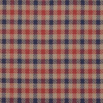 コットン&ポリウレタン×チェック(レッド&ネイビー)×ビエラストレッチ_全2色 サムネイル1