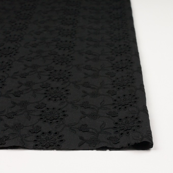 コットン×フラワー(ブラック)×ローンモチーフレース_全2色 イメージ3