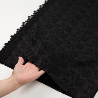 コットン×フラワー(ブラック)×ローンモチーフレース_全2色 サムネイル5