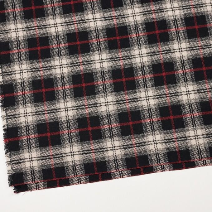 コットン×チェック(キナリ、レッド&ブラック)×ヘリンボーン イメージ2