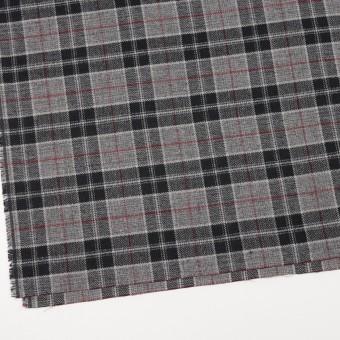 コットン×チェック(レッド、ブラック&グレー)×ヘリンボーン サムネイル2