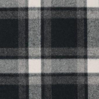 コットン×チェック(グレー&ブラック)×ビエラ