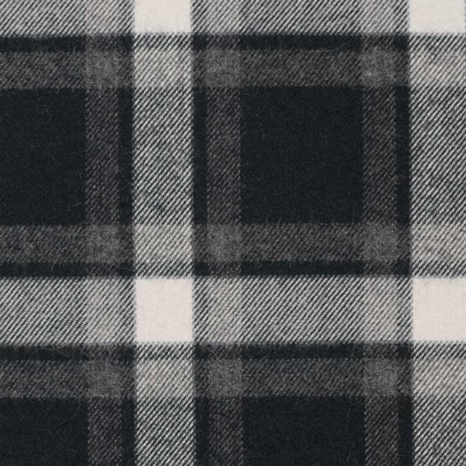 コットン×チェック(グレー&ブラック)×ビエラ イメージ1