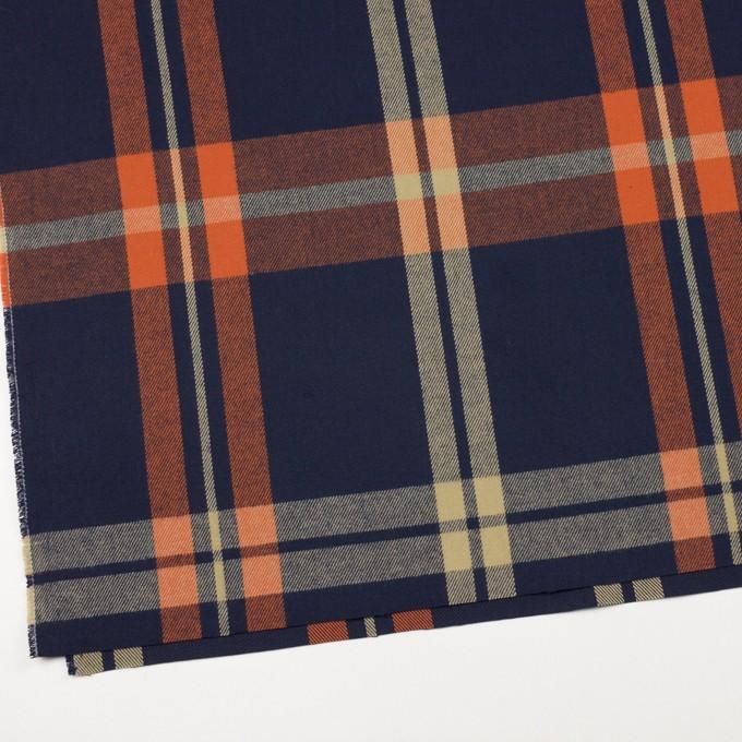 コットン×チェック(オレンジ&ネイビー)×ビエラ_全2色 イメージ2