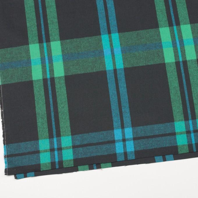 コットン×チェック(エメラルドグリーン&チャコールグレー)×ビエラ_全2色 イメージ2